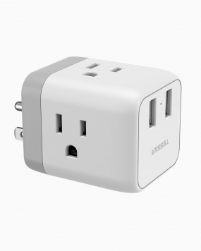 Travel Charging Cube 3 Outlets & 2 USB