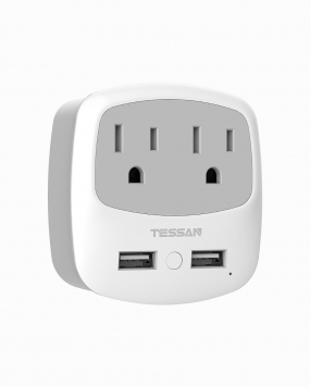 UK Hong Kong Travel Adapter with 2 Outlets 2 USB Ports (Type G Plug)